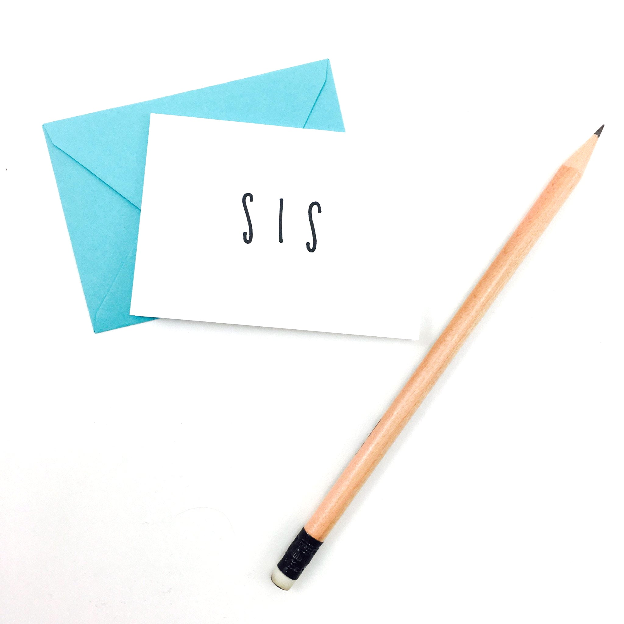 """Sis"" Mini Hand-Drawn Greeting Card - by K. A. Artist Shop - K. A. Artist Shop"