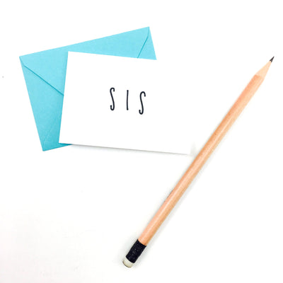 """Sis"" Mini Hand-Drawn Greeting Card"