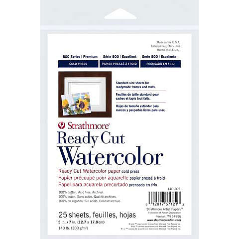 Strathmore Ready Cut Watercolor Paper Packs - 500 Series
