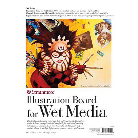 Illustration Board for Wet Media 500 Series - 15 x 22 inches