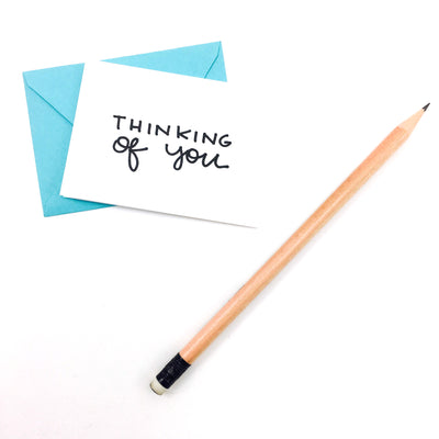 """Thinking of You"" Mini Hand-Drawn Greeting Card"
