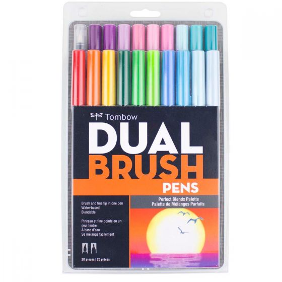 Tombow Dual Brush Pen and Artist Markers - Set of 20