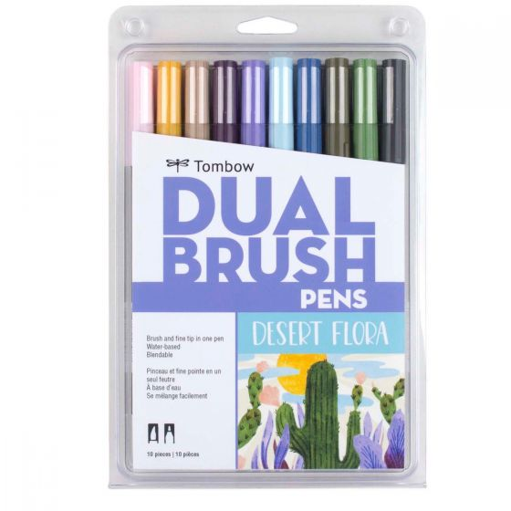 Tombow Dual Brush Pen and Artist Markers - Set of 10 - Desert Flora by Tombow - K. A. Artist Shop