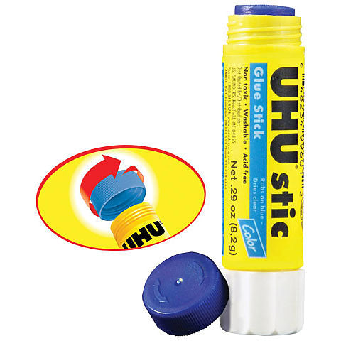 Uhu Clic Glue Stick (Blue to Clear)