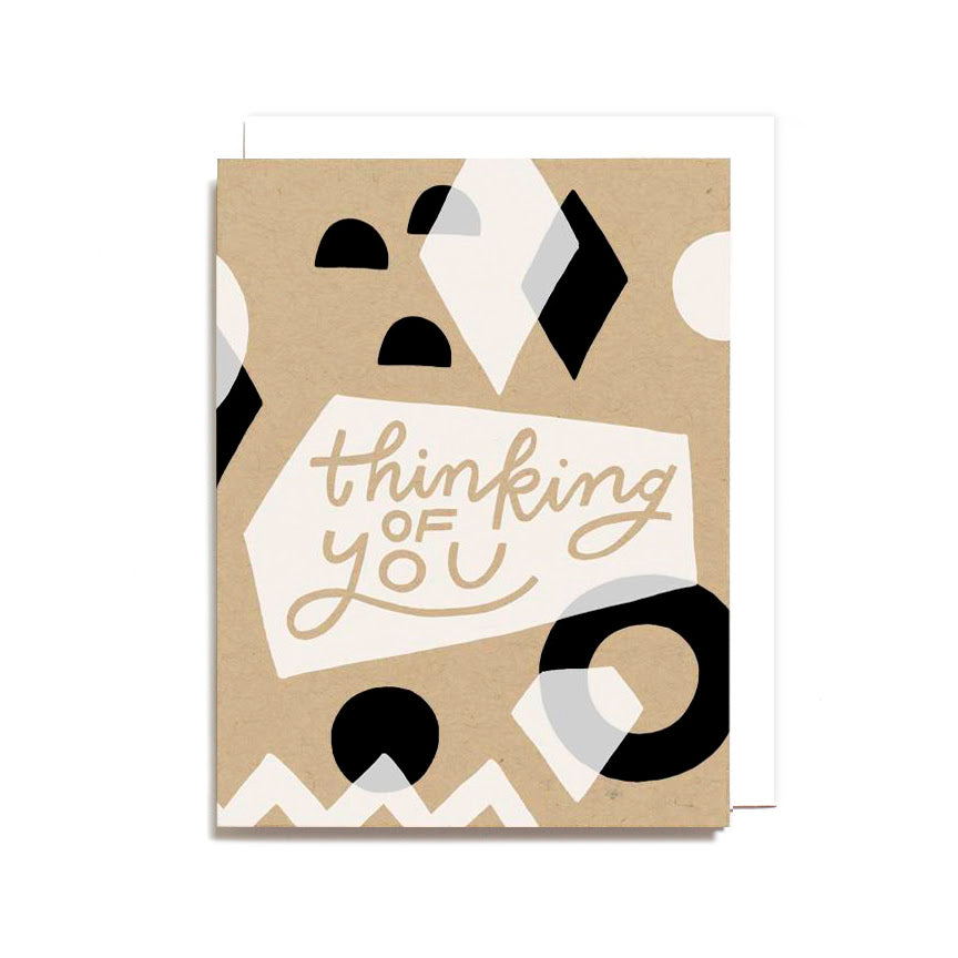 """Thinking of You"" Geometric Card by Worthwhile Paper"