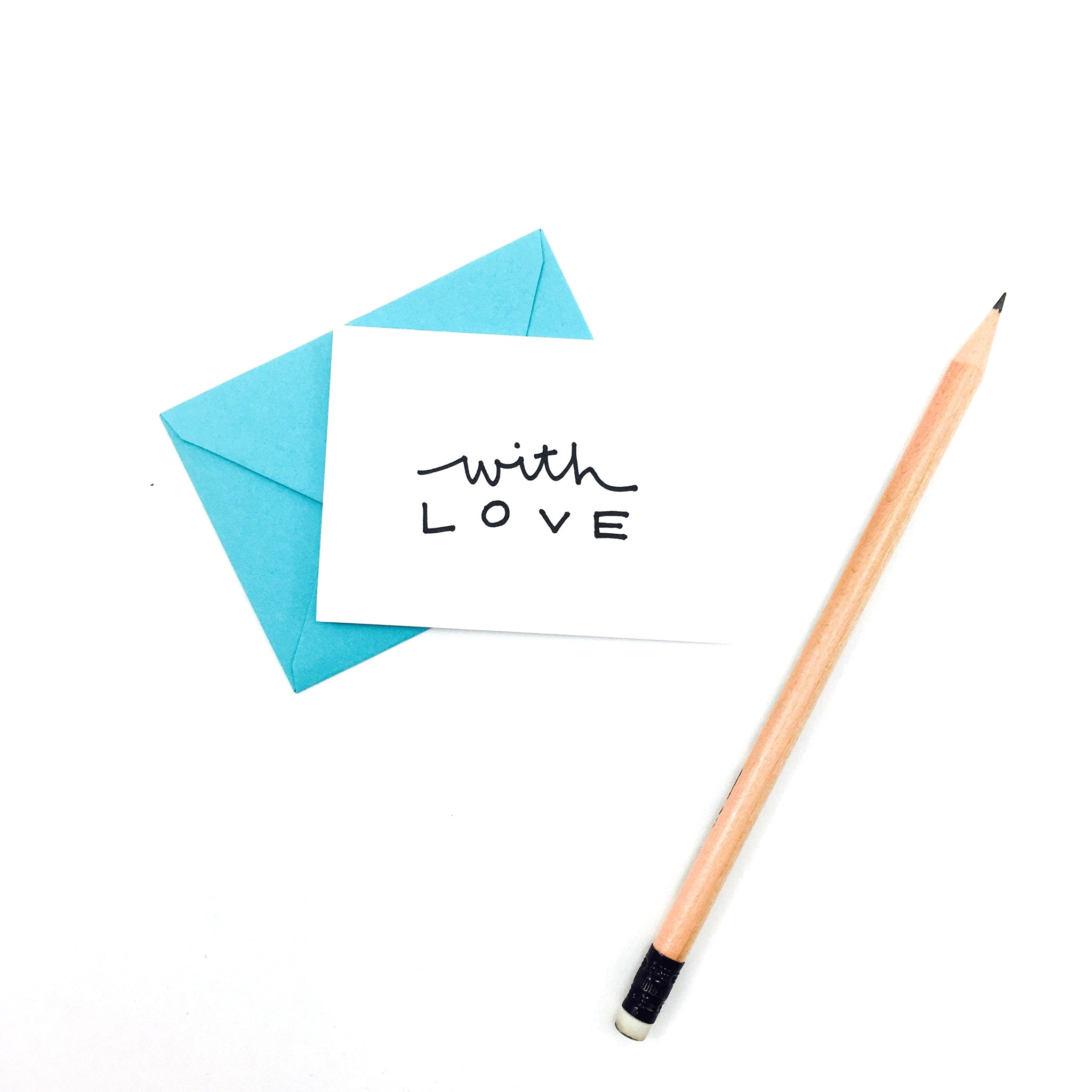 """With Love"" Mini Hand-Drawn Greeting Card - by K. A. Artist Shop - K. A. Artist Shop"