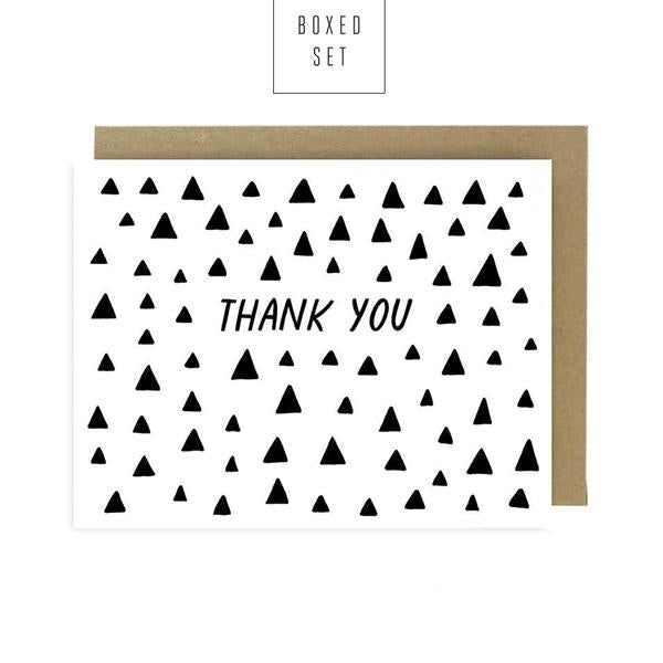 Worthwhile Paper Thank You Triangles - Boxed Set of 6