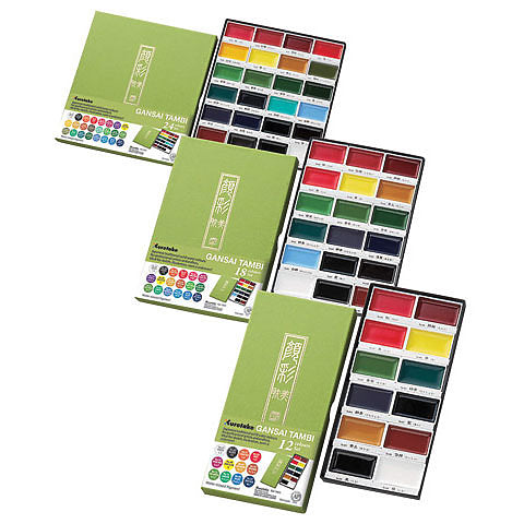 Kuretake Gansai Tambi Solid Watercolor Sets