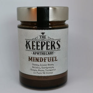 Mindfuel | Super Honey Blend | Cacao Lions MAne Reishi Cordyceps Chaga Maca and Turmeric