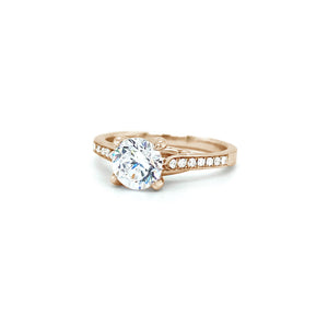 Lucida Style Solitaire Engagement Ring
