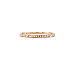 Delicate Semi Eternity Ring