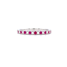 Load image into Gallery viewer, Semi Eternity Ruby & Diamond Ring