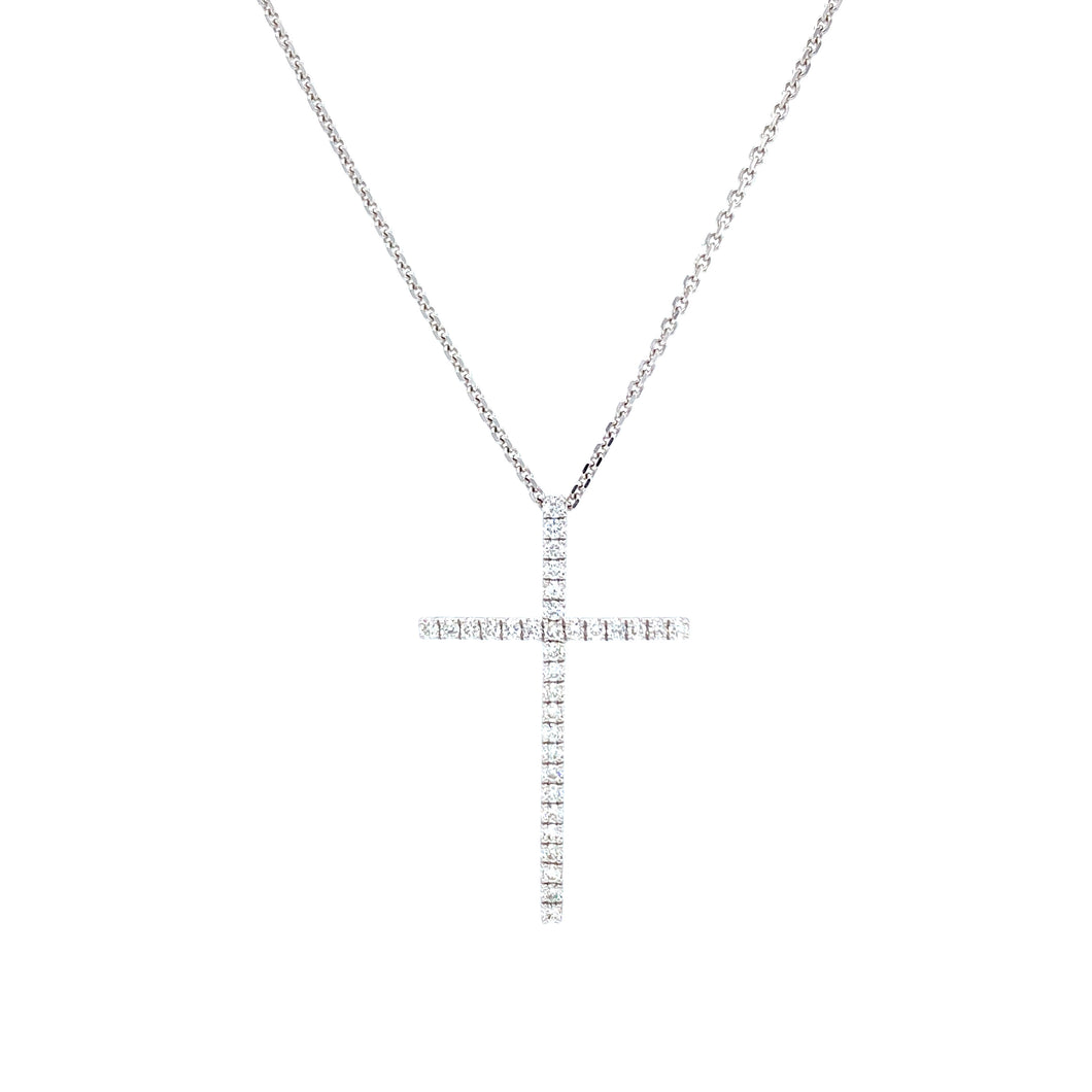 Large Simple Cross Pendant
