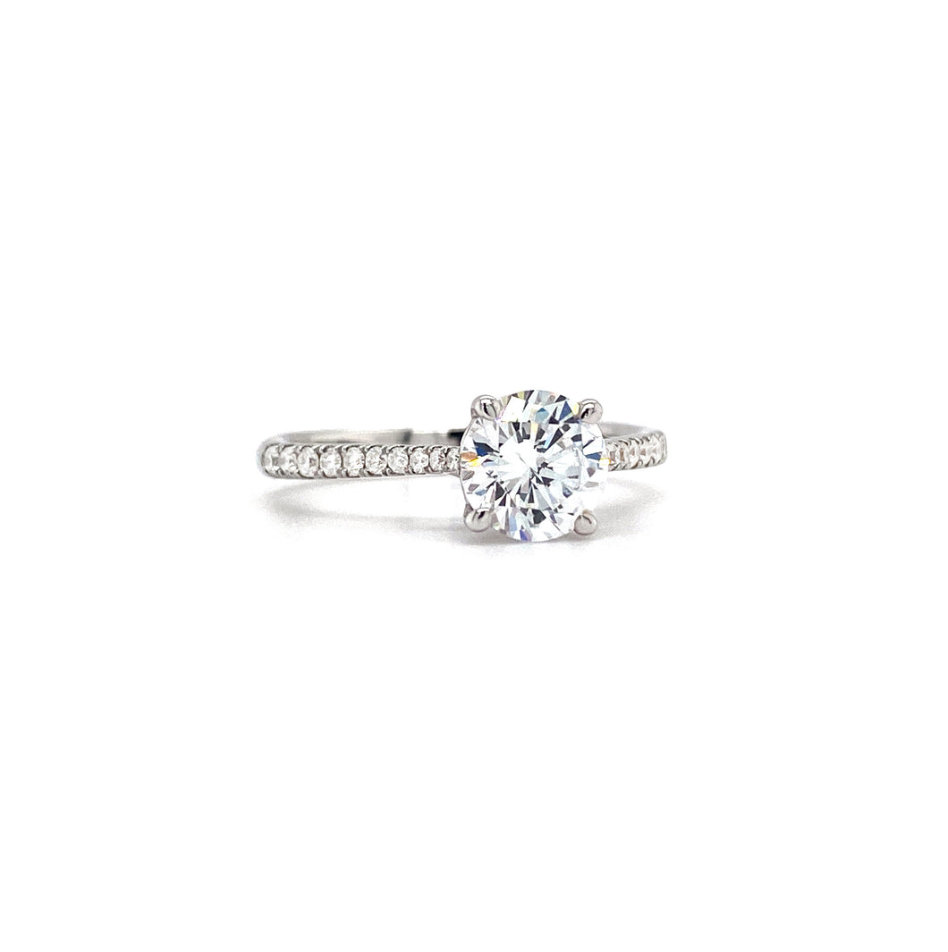 Cathedral 4-Prong Solitaire Engagement Ring