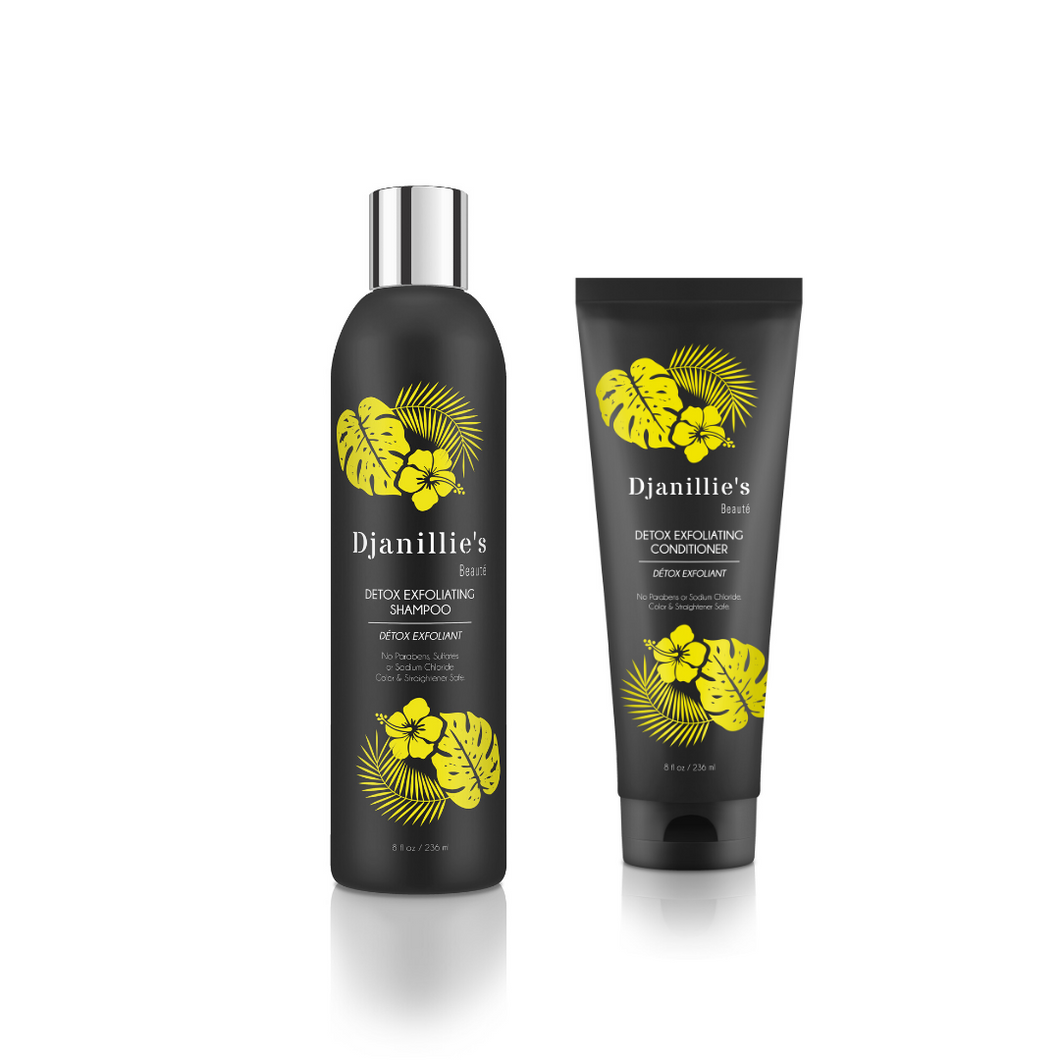 Detox Exfoliating Shampoo+Conditioner Set - Djanillie's