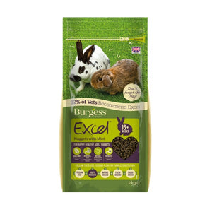 Burgess Exc Adult Rabbit Nugget+Mint 2kg
