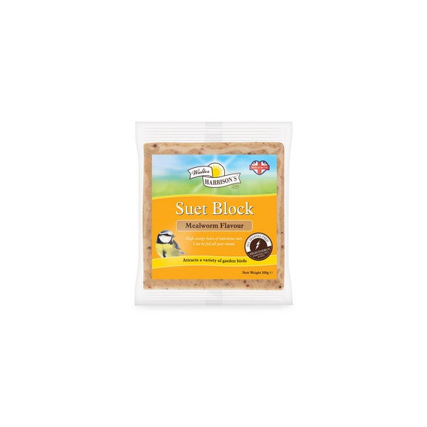 Harrisons Suet Block with Mealworms 300g