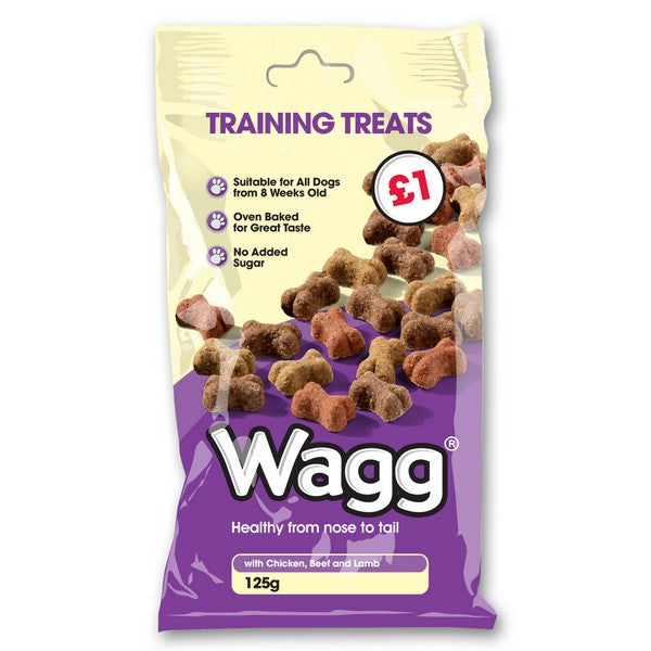 Wagg Training Treats Chicken, Beef & Lamb 125g