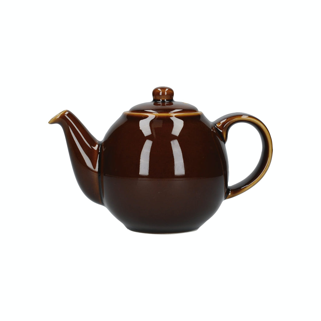 London Pottery Globe 4 Cup Teapot Rockingham Brown