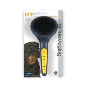 JW Gripsoft Grooming Rubber Brush