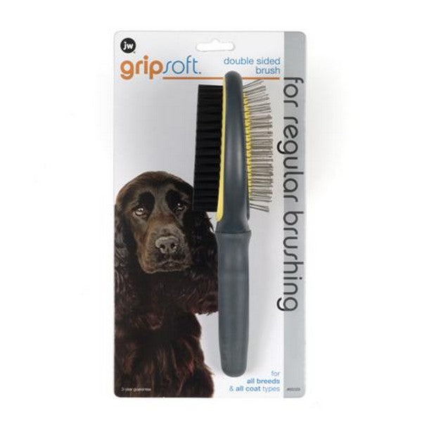 JW Gripsoft Grooming Double Sided Brush