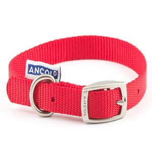 Ancol Nylon Collar Red 14 Inch