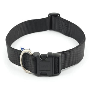 Ancol Nylon Adj Collar Black 45-70cm