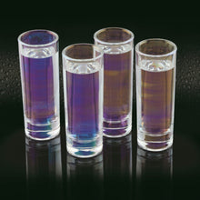 Load image into Gallery viewer, BarCraft Set of Four Iridescent Tall Shot Glasses