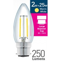 Status 2W LED Candle WarmWhite Clear B22
