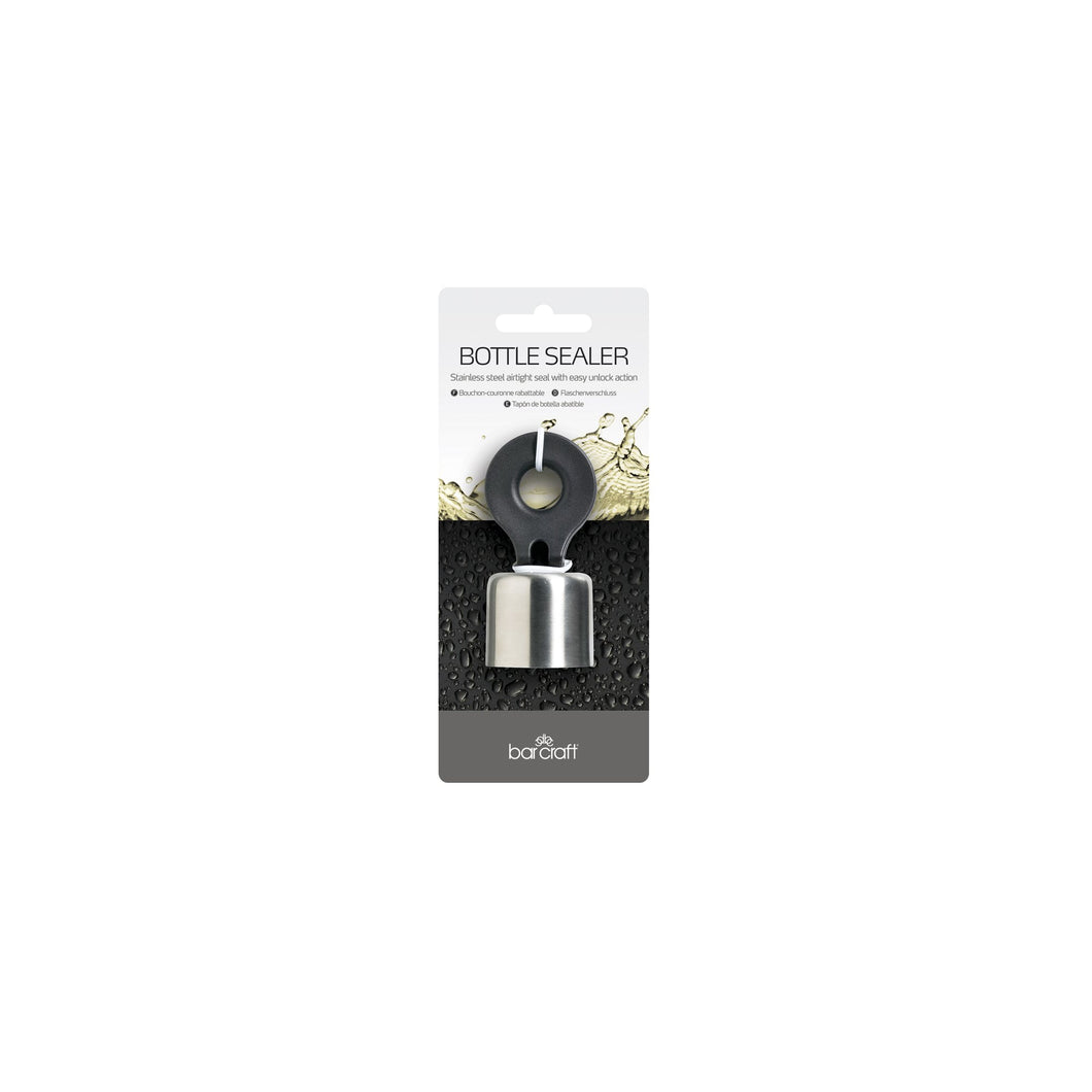 BarCraft Stainless Steel Flip Top Bottle Stopper