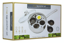 Load image into Gallery viewer, KitchenCraft Stainless Steel Four Hole Egg Poacher