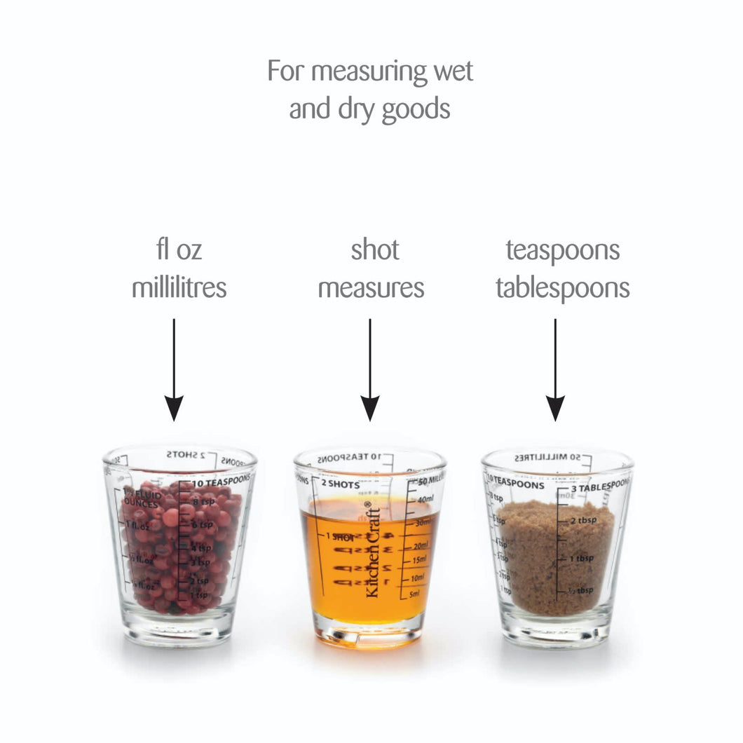 KitchenCraft Glass Mini Measures