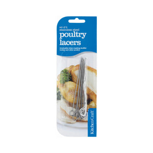 KitchenCraft Pack of Eight Poultry Lacers