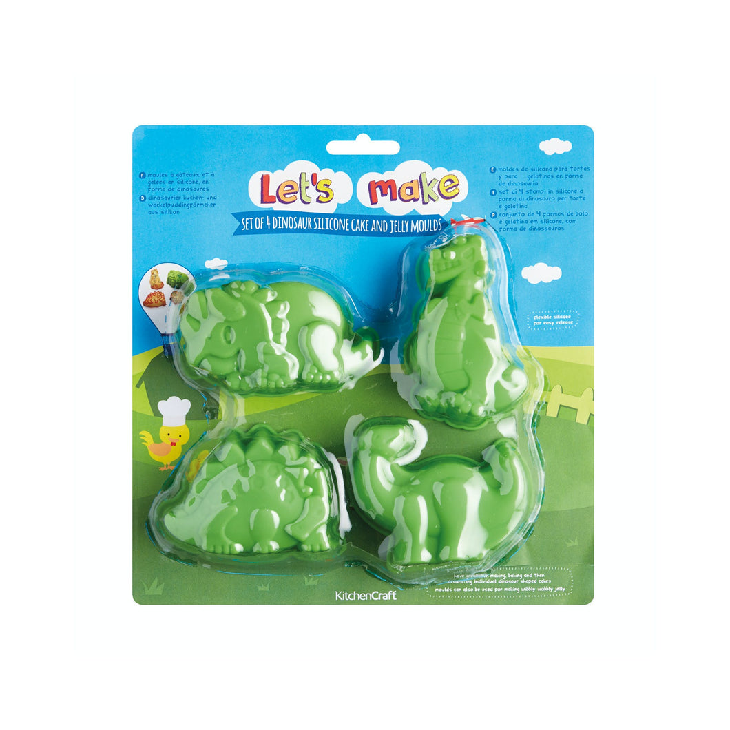 Let's Make Dinosaur Shaped Silicone Cake / Jelly Moulds