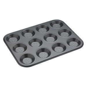 MasterClass Crusty Bake Non-Stick 12 Hole Shallow Baking Pan