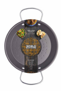 KitchenCraft World of Flavours Mediterranean 38.5cm Paella Pan