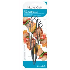KitchenCraft Pack of Six Assorted Sized Skewers