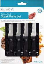 Load image into Gallery viewer, KitchenCraft Deluxe 6 Piece Steak Knife Set