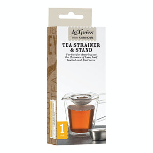 Le'Xpress Stainless Steel Long Handled Tea Strainer