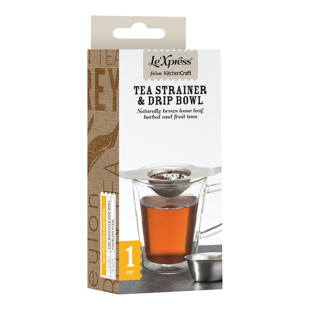 Le'Xpress Stainless Steel Double Handled Tea Strainer