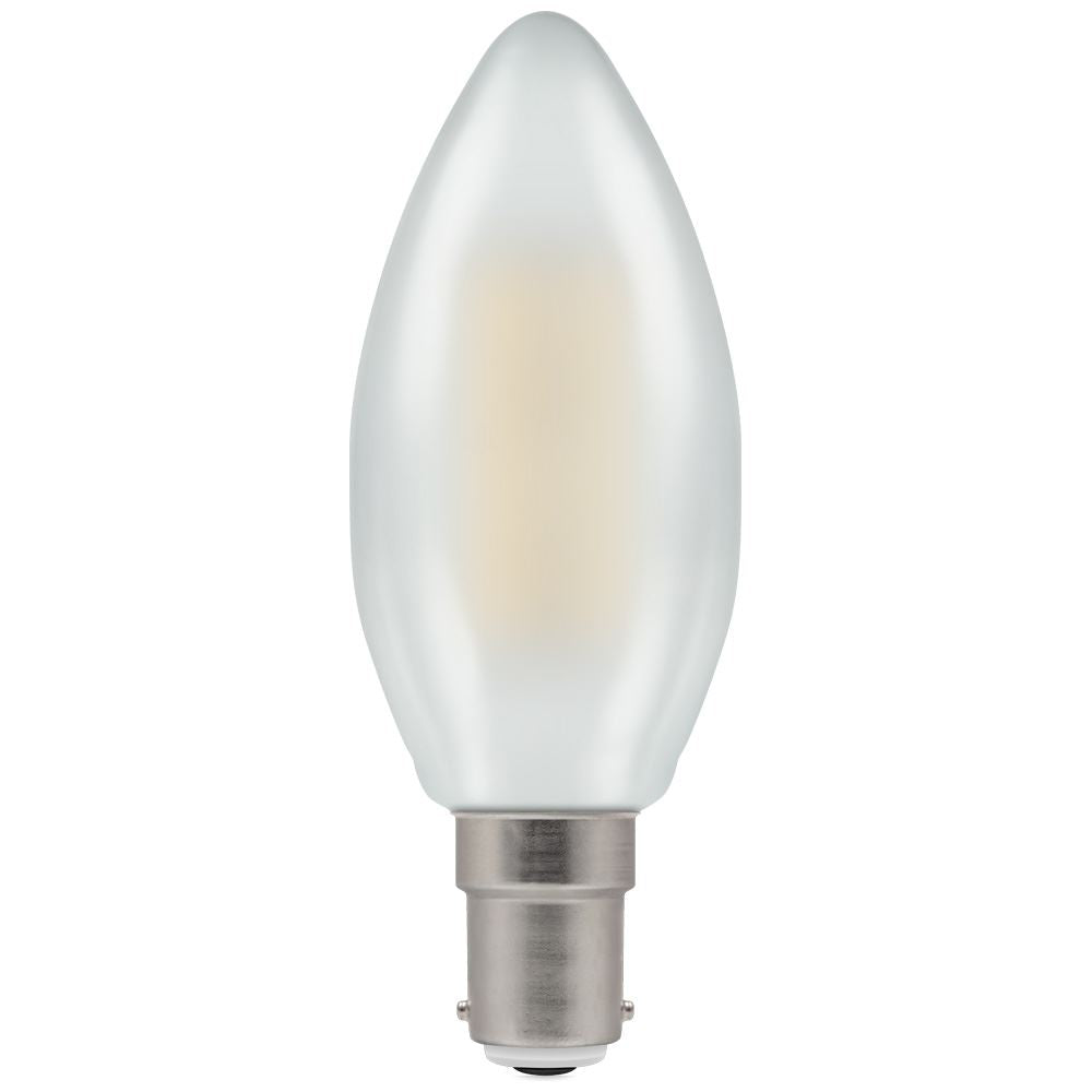 Crompton 5W Dimmable LED Candle Pearl Warm White SBC