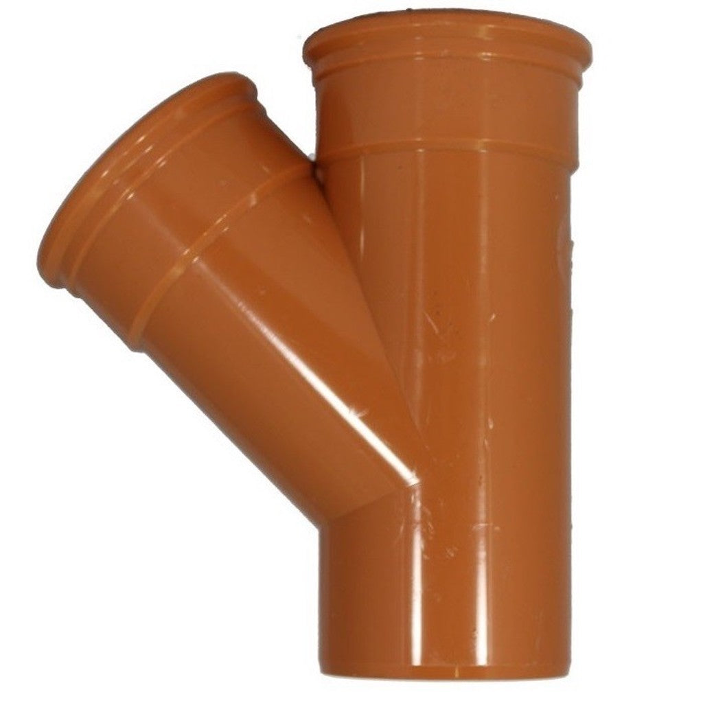 110mm Equal Y Junction 45° Double Socket For 110mm Underground Drainage Pipe