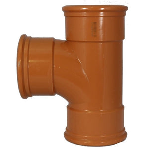 110mm Equal Tee Junction 87.5° Triple Socket For 110mm Underground Drainage Pipe
