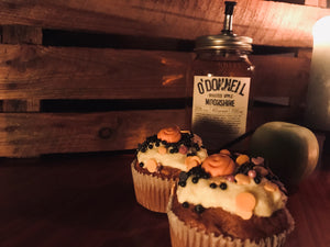 Roasted Apple Moonshine Cupcakes