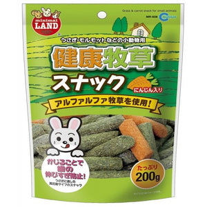 Marukan Grass & Carrot Snacks For Small Animals (200g)
