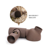 Niteangel Purple Sand Ceramic Hamster Tunnel System
