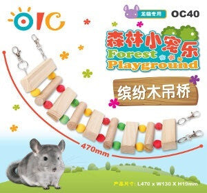 OIC Forest Playground - Colorful Wood Bridge