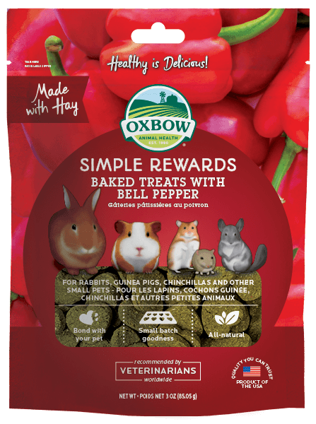 Oxbow Simple Rewards Baked Treats with Bell Pepper (3oz)