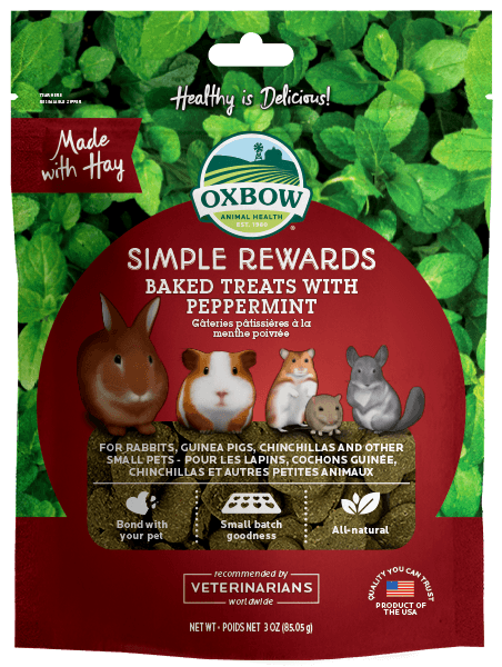 Oxbow Simple Rewards Baked Treats with Peppermint (3oz)