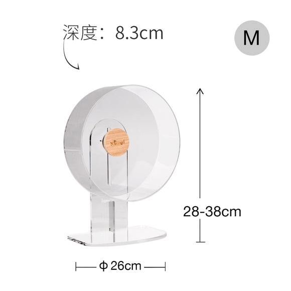 Niteangel Acrylic-Only Super Silent Hamster Wheel (Medium)